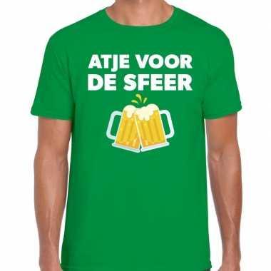 Atje sfeer feest groen heren t-shirt kopen