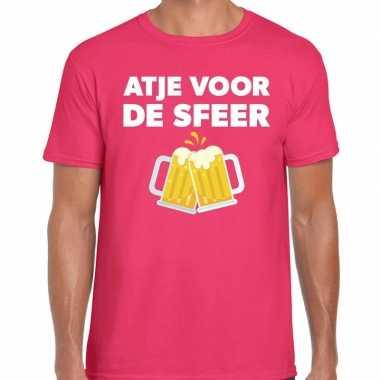 Atje sfeer feest roze heren t-shirt kopen