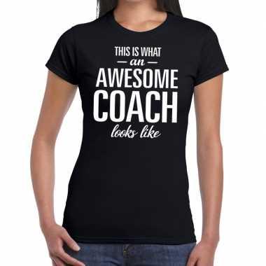 Awesome coach cadeau zwart dames t-shirt kopen