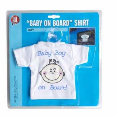 Baby on board jongen auto t-shirt