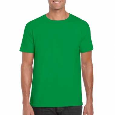 Basic groen heren xs t-shirt kopen