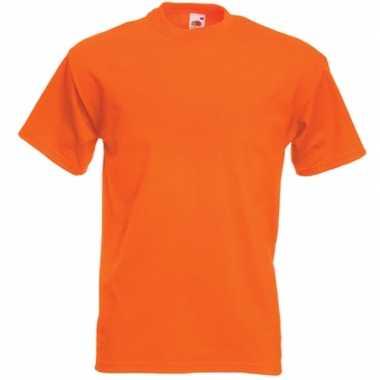 Basic oranje heren t-shirt kopen
