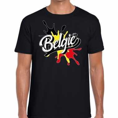 Belgie spetter zwart heren t-shirt kopen