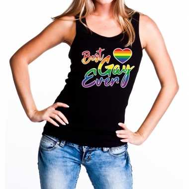 Best gay ever regenboog gaypride tanktop/mouwloos dam t-shirt kopen