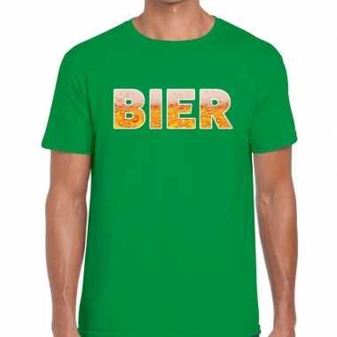 Bier tekst groen heren t-shirt kopen