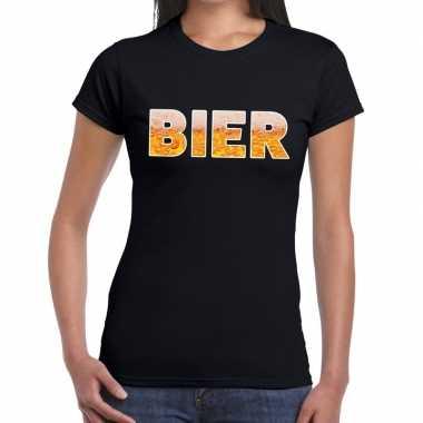 Bier tekst zwart dames t-shirt kopen