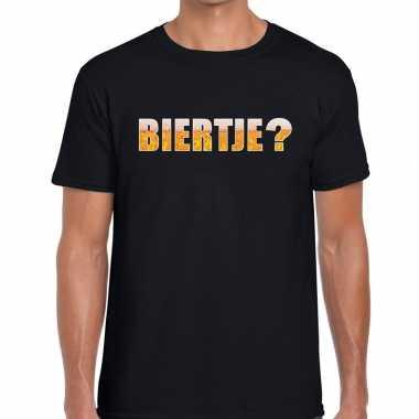 Biertje tekst zwart heren t-shirt kopen