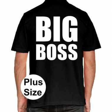 Big boss grote maten polo zwart heren t-shirt kopen