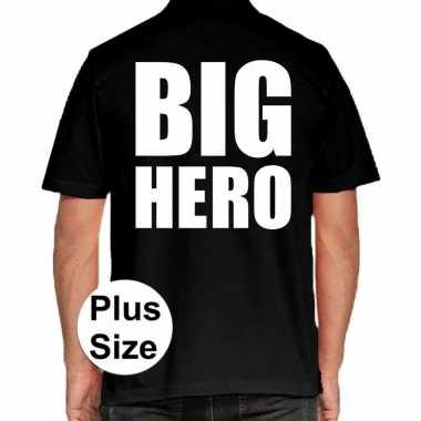 Big hero grote maten polo zwart heren t-shirt kopen