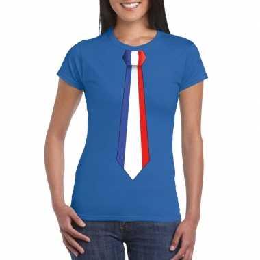 nl Vlag KopenKopen Stropdas Shirt Frankrijk T Dames Blauw txrhsQdC