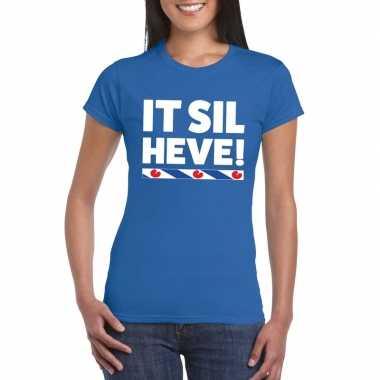 Blauw friesland it sil heve dames t-shirt kopen