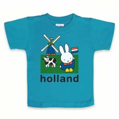 Blauw nijntje baby holland t-shirt