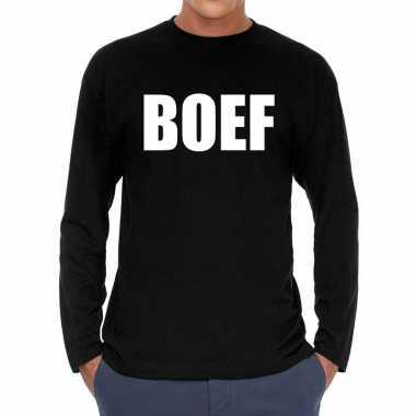 Boef long sleeve zwart heren t-shirt kopen