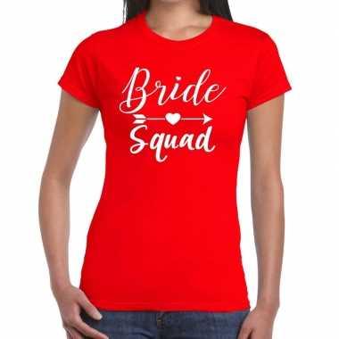 Bride to be cupido rood dames t-shirt kopen