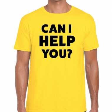 Can i help you beurs/evenementen geel heren t-shirt kopen