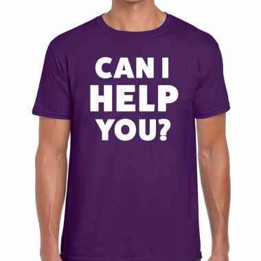 Can i help you beurs/evenementen paars heren t-shirt kopen