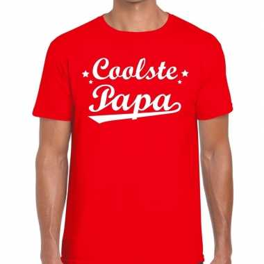 Coolste papa cadeau rood heren t-shirt kopen