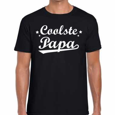 Coolste papa cadeau zwart heren t-shirt kopen