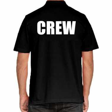 Crew grote maten polo zwart heren t-shirt kopen