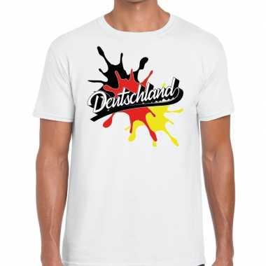 Deutschland/duitsland spetter wit heren t-shirt kopen