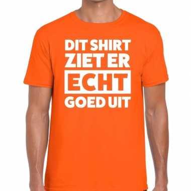 Di ziet er echt goed uit oranje heren t-shirt kopen