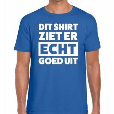 Di ziet er echt goed uit tekst blauw heren t-shirt kopen