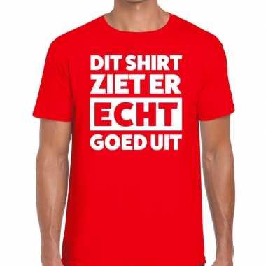 Di ziet er echt goed uit tekst rood heren t-shirt kopen