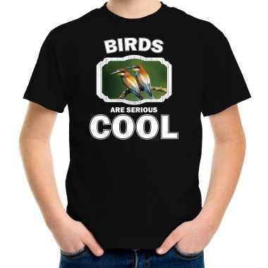Dieren bijeneter vogel zwart kinderen birds are cool jongens meisjes t-shirt kopen