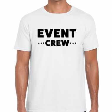 Event crew / personeel tekst wit heren t-shirt kopen