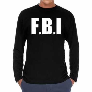 F.b.i. long sleeve zwart heren t-shirt kopen