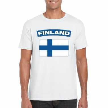 Finse vlag wit heren t-shirt kopen