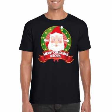 Foute kerst merry christmas bitches heren t-shirt kopen