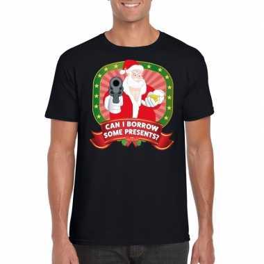 Foute kerst zwart can i borrow some presents heren t-shirt kopen