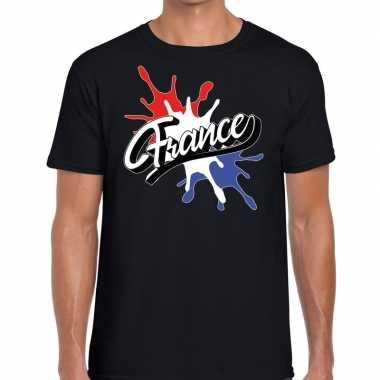 France/frankrijk spetter zwart heren t-shirt kopen