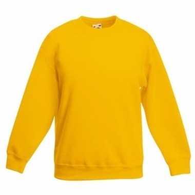 Gele katoenmix sweater meisjes t-shirt kopen
