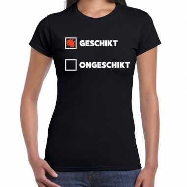Geschikt ongeschikt fun zwart dames t-shirt kopen