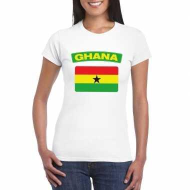Ghanese vlag wit dames t-shirt kopen