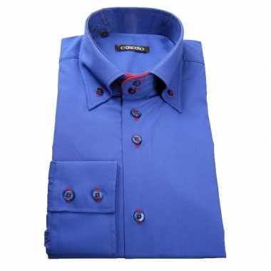 T Shirt Overhemd.Giovanni Capraro Overhemd Blauw T Shirt Kopen T Shirt Kopen Nl