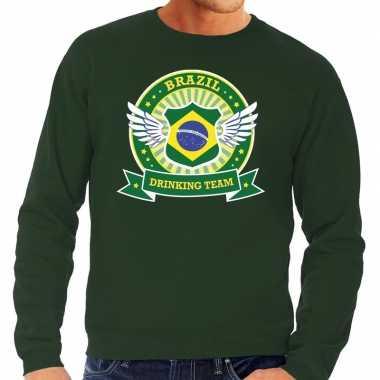 Groen brazil drinking team sweater heren t-shirt kopen