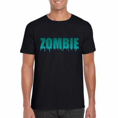 Halloween halloween zombie tekst zwart heren t-shirt