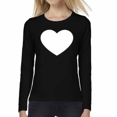 Hart long sleeve zwart dames t-shirt kopen