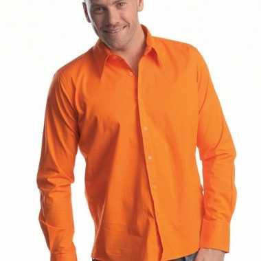 T Shirt Overhemd.Heren Overhemd Oranje Lange Mouw T Shirt Kopen T Shirt Kopen Nl