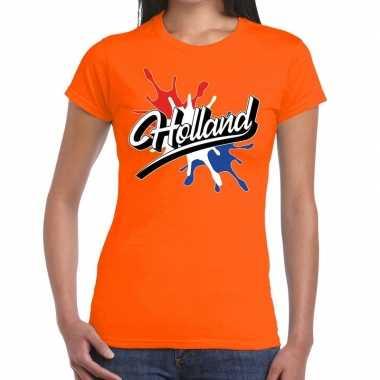 Holland spetter oranje dames t-shirt kopen