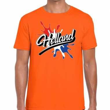 Holland spetter oranje heren t-shirt kopen