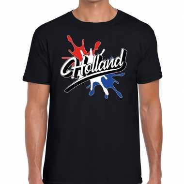 Holland spetter zwart heren t-shirt kopen