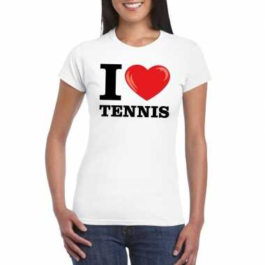 I love tennis wit dames t-shirt