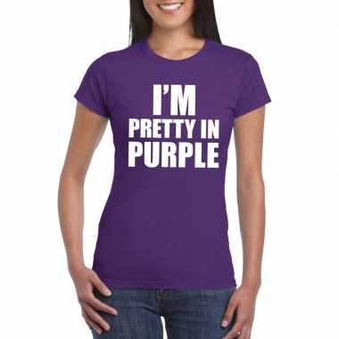 I'm pretty purple paars dames t-shirt kopen