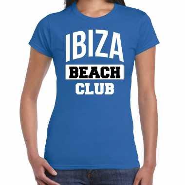 Ibiza beach club zomer blauw dames t-shirt kopen