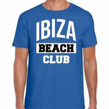Ibiza beach club zomer blauw heren t-shirt kopen