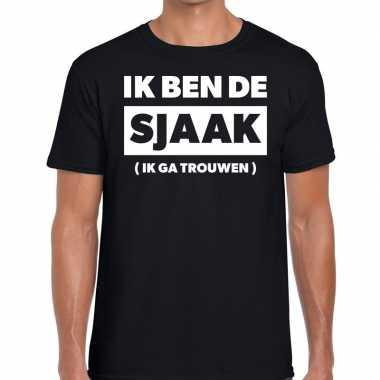 Ik ben sjaak vrijgezellen feest zwart heren t-shirt kopen